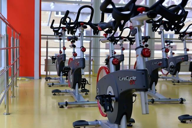 inside a gym